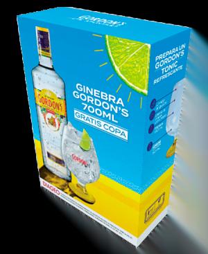Ginebra Gordons con copa envíos en Colombia