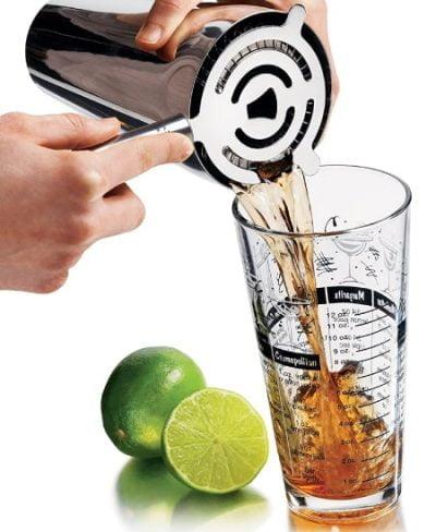 Kit: Shaker, Vaso Medidor y Colador