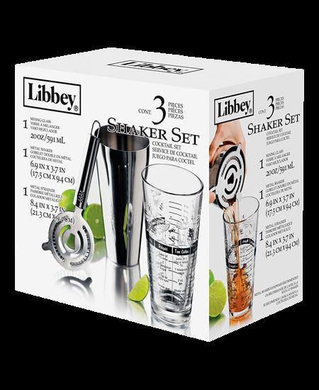 Shaker para coctelería a domicilio en Colombia Libbey set